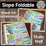 Slope Foldable (Great for Math Interactive Notebooks) DISTANCE LEARNING