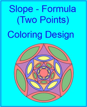 Slope #2 - Finding Slope of Two Points Coloring Activity
