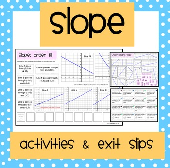 Slope: Activities & Exit Slips