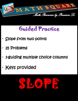 Finding the Slope from Two Points Guided Practice
