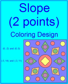 SLOPE: FIND SLOPE OF TWO POINTS #3 - COLORING ACTIVITY