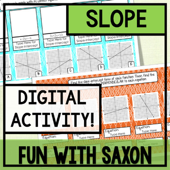 Slope GOOGLE SLIDES ACTIVITY!