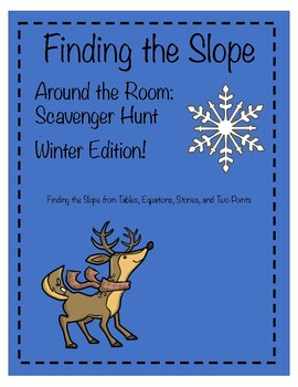 Slope Activity: Scavenger Hunt Winter Edition