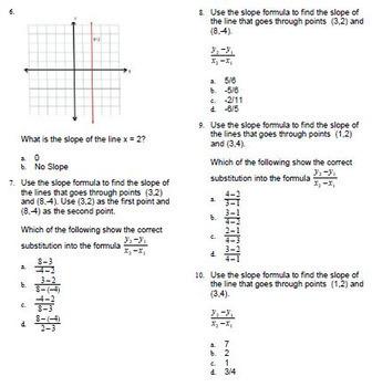 Slope: Formula vs Rise & Run Go Math Test Bank BNK 8.EE.B.6 for ExamView