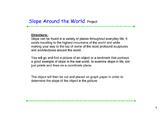 Slope Around the World