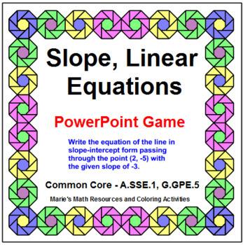 """SLOPE: ACTIVITES BUNDLE 88 BOOM """"DIGITAL"""" TASK CARDS, 12 COLOR, POWERPOINT GAME"""