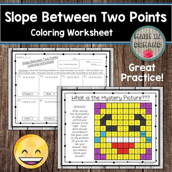 Slope Between Two Points Coloring Worksheet