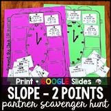 Slope Between Two Points Partner Scavenger Hunt w/GOOGLE f