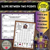 Slope Between Two Points Worksheet Practice (Halloween Edition)