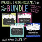 Parallel and Perpendicular Lines Slope BUNDLE
