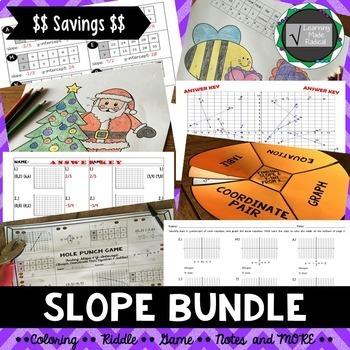 Slope Bundle - Includes Y-Intercept Activities