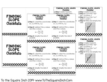 Slope Checklists