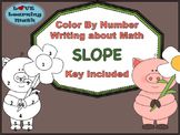 Slope -Color By Number and Writing Activity - Given 2 Points