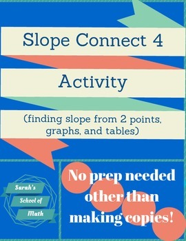 Slope Connect 4 Activity-finding slope from two points, a