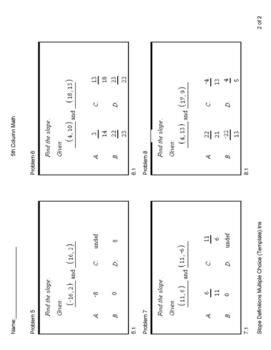 Slope Definitions (Quiz)