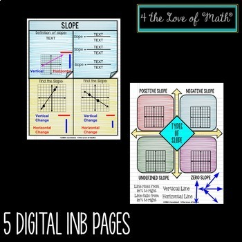 Slope Digital Interactive Notebook Pages
