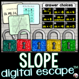 Finding Slope Digital Math Escape Room