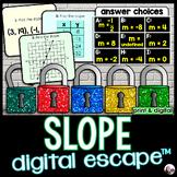 Finding Slope Digital Math Escape Room