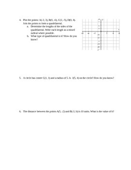 Slope, Distance and MidPoint Assignment