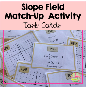 Calculus: Slope Field Match-Up Activity