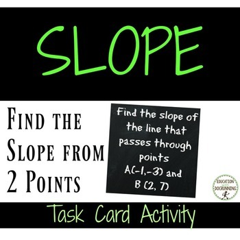 Slope from 2 Points Task Card Activity