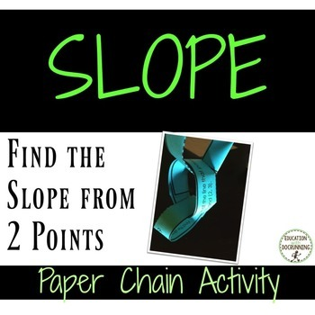 Slope - Find the Slope from 2 points Paper Chain Activity (8.EE.B.6.)