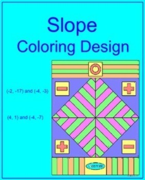 Slope #1 - Finding Slope of Two Points Coloring Design