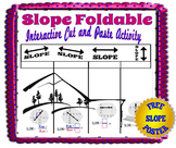 Slope Foldable- Interactive Cut and Paste Activity + Free Poster