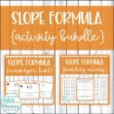Slope Formula Activity Mini-Bundle
