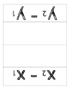 Slope Formula Foldable and Worksheet