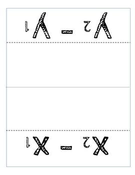 Slope Formula Foldable and Worksheet