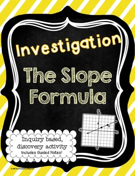Slope Formula Investigation Activity and Notes