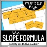 Slope Formula Pyramid Sum Puzzle