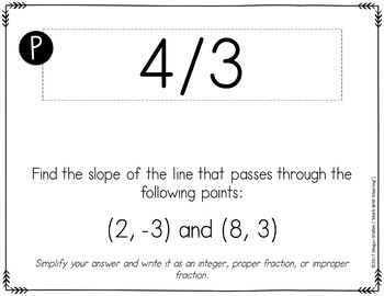 Slope Formula Scavenger Hunt Activity