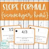 Slope Formula Scavenger Hunt Activity