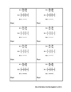 Slope Formula Template
