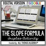 Slope Formula Triples Activity: DIGITAL VERSION (for Googl