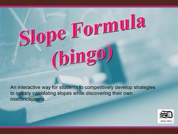 Slope Formula (bingo)
