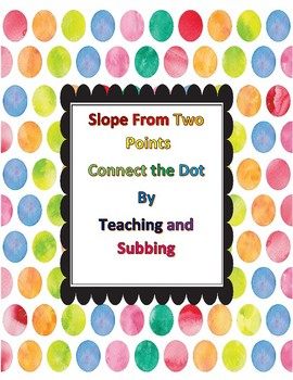 Slope From Two Points Connect the Dots