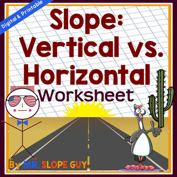 Slope & Graphing Special Cases: Vertical vs. Horizontal Math Worksheet