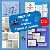 Graphing Systems of Equations Slope Bundle Practice 8.EE.6