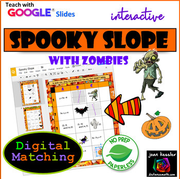 Slope Matching Halloween Activity with GOOGLE Slides