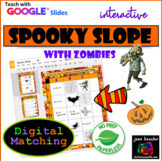 Halloween Slope Digital Matching with GOOGLE Slides™ Distance Learning
