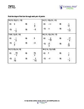 Slope Handout Homework