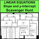Slope Intercept Equation Graphing Scavenger Hunt Travel Activity Game Stations
