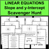 Slope y-Intercept Equation Graphing Scavenger Hunt Travel Activity Game Stations