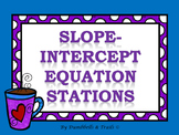 Slope-Intercept Equations Stations