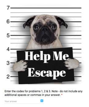Slope Intercept Form – Bad Dog Breakout for Google Classroom!