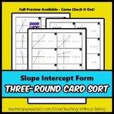 Slope Intercept Form Card Sort