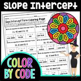 Slope Intercept Form Color By Number | Math Color By Number